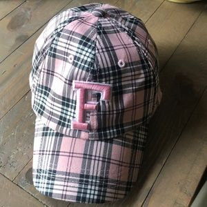 Florida gator pink plaid hat